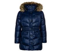 Wintermantel blau