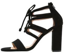 High Heel Sandaletten ante black