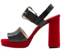 Riemensandalette - nero/rosso