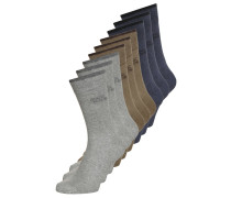 9 PACK Socken grey melange/earth brown/denim melange