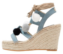 BRESA - Keilsandalette - light blue