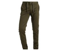 BRONSON SLIM CUFFED CHINO - Stoffhose - dark bronze green
