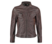 CASEY Lederjacke dark brown