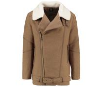 KREST Wollmantel / klassischer Mantel fauve