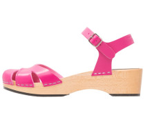 SUZANNE DEBUTANT Clogs neon pink