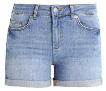 PCFIVE DELLY - Jeans Shorts - light blue denim