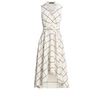 FLUID CHECKED - Maxikleid - white
