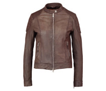 BIKER Lederjacke brown