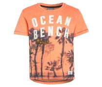 PALM OCEAN - T-Shirt print - soft neon coral