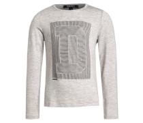 Langarmshirt gris clair chine