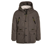 Parka grey olive green