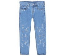 EMBROPAN - Jeans Relaxed Fit - medium blue
