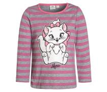 MARIE Langarmshirt light gray melange/pink