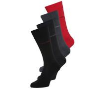 IVAN 4 PACK Socken red/anthrazit/black
