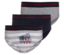 BORN TO PLAY 3 PACK Slip gris