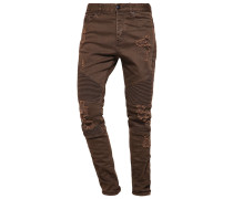 Jeans Tapered Fit distressed olive