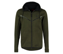 TECH FLEECE Sweatjacke dark loden/heather/black