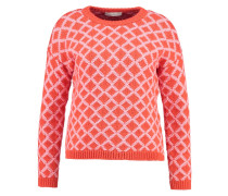 Strickpullover - rot/pink