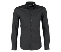 BARI SLIM FIT Businesshemd black
