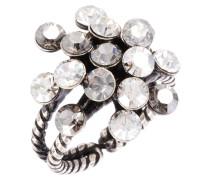 MAGIC FIREBALL - Ring - weiß/antiksilberfarben