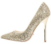 High Heel Pumps - glitter gold