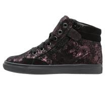 Sneaker high eggplant/black