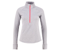 Fleecepullover true gray heather/carbon heather/metallic silver