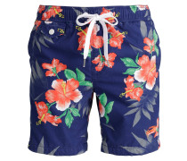 HONOLULU Badeshorts large hibiscus/navy