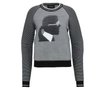 Strickpullover black/white