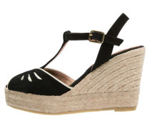 Plateausandalette black