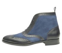 NO. 651 - Schnürstiefelette - schwarz-dunkelblau