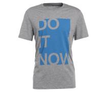 T-Shirt print - mottled light grey
