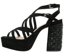 CHASE Plateausandalette black