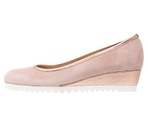 FIORELLA - Keilpumps - tea rose/bossato metal