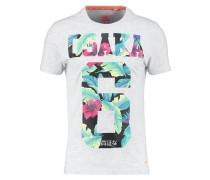 OSAKA HIBISCUS - T-Shirt print - ice marl