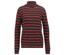 NELLY Strickpullover rust navy