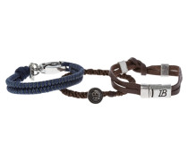 3 PACK DENIM DETAIL - Armband - brown