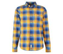 Hemd gold/blue