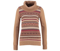 Strickpullover camel/port royale