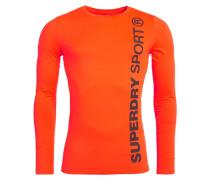 GYM SPORT Langarmshirt orange fluo