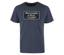 HERITAGE TECH MUSCLE FIT - T-Shirt print - blue abercromie
