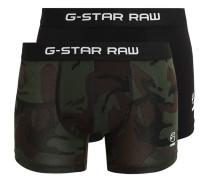 GStar 2 PACK Panties asfalt/black