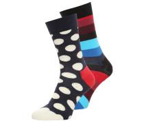 Socken dark blue/red