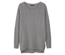 HOLES Strickpullover medium heather grey