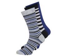 3 PACK Socken blue marble/true royal/navy mix