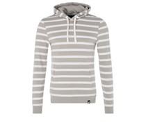 Kapuzenpullover grey / white