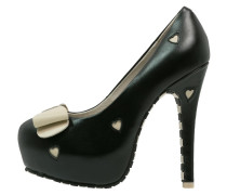 High Heel Pumps black/cream