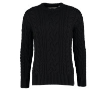 JACOB - Strickpullover - black