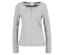 VMDIANA Langarmshirt light grey melange/snow white