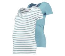 MLLEA 2 PACK - T-Shirt print - mineral blue